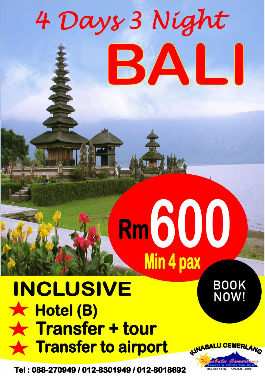 4 Days 3 Night Bali Package